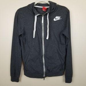 Nike Gray Zipper Hoodie size S